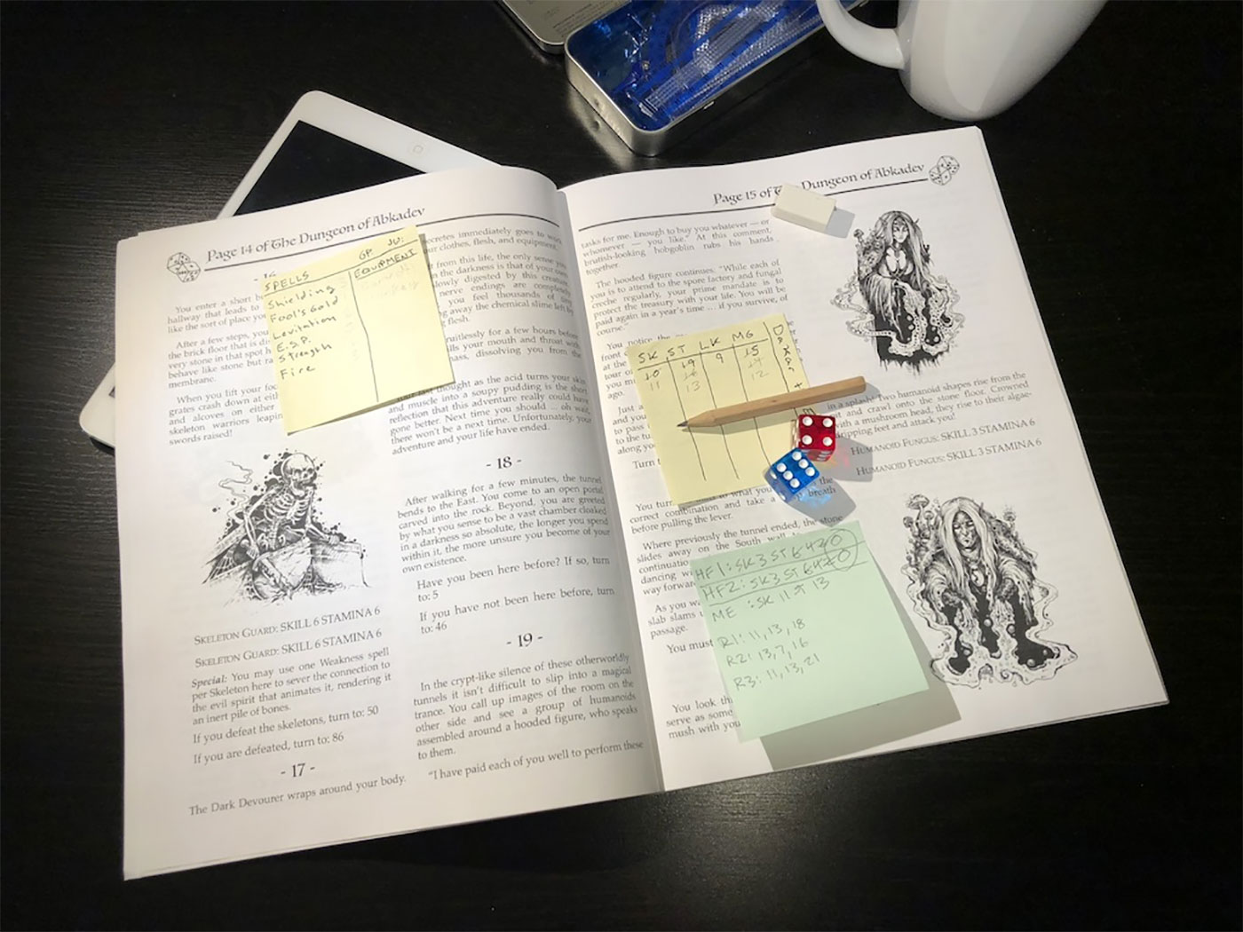 The Dungeon of Abkadev is a gamebook you can print.
